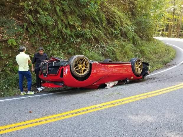 Ferrari 488 Pista Spider разбилась в США