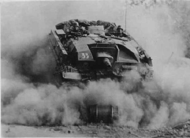 Немецкая самоходная артиллерийская установка.