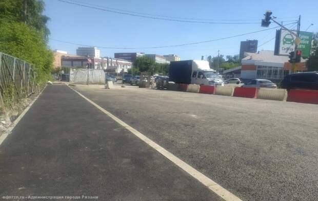 В Рязани запустят движение по отремонтированной части моста через Трубеж