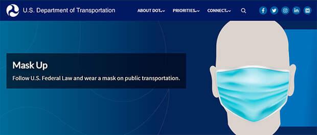 Американские транспортники поспорили с  Джо Байденом из-за масок