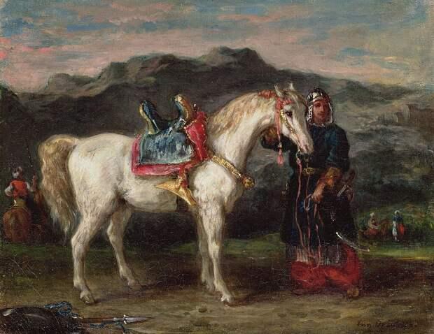 Эжен Делакруа«Черкес держит лошадь под уздцы», 1858