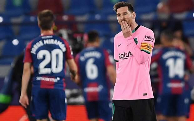 «Барселона» упустила победу над «Леванте», выигрывая 2:0 по ходу матча