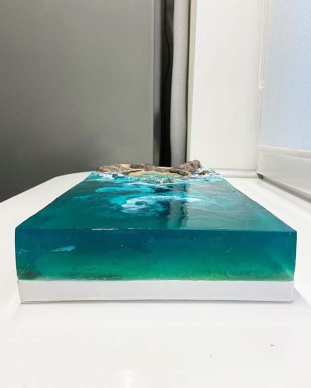 торт из желе море