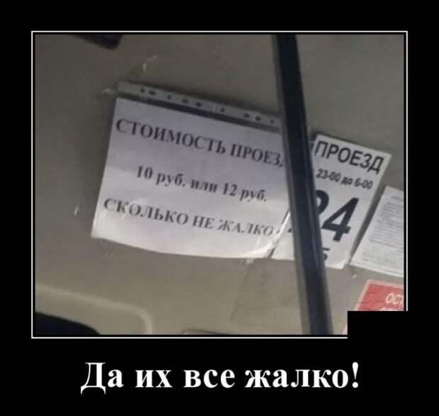 Демотиваторы про общественный транспорт