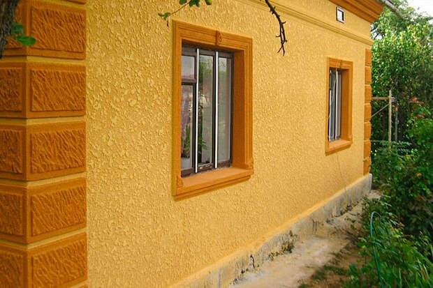Штукатурка фактурная для фасада дома