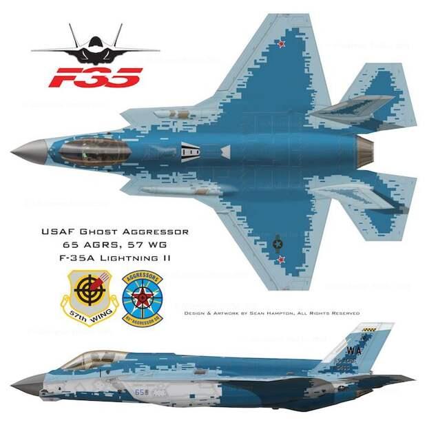 В США показали дизайн истребителей F-35 с «российским» дизайном