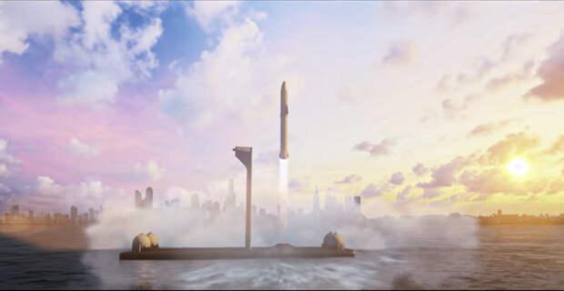 SpaceX планирует построить плавучий космодром