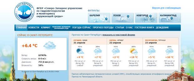 Петербургское небо затянуло облаками неспроста. Температура готовится к рывку