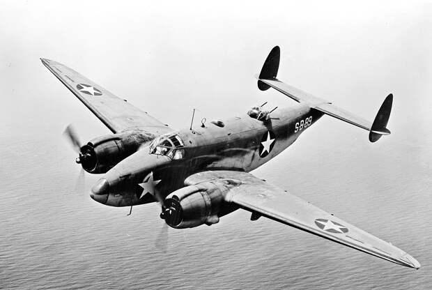Lockheed PV-1 Ventura patrol bomber in flight, circa 1943 (fsa.8e01506).jpg