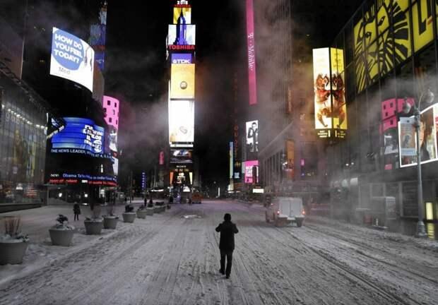 Фотографии пустого Нью-Йорка