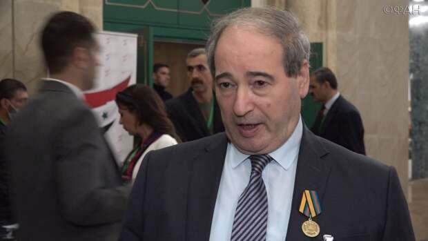 Глава МИД Сирии Фейсал Микдад принял нового посла Сербии