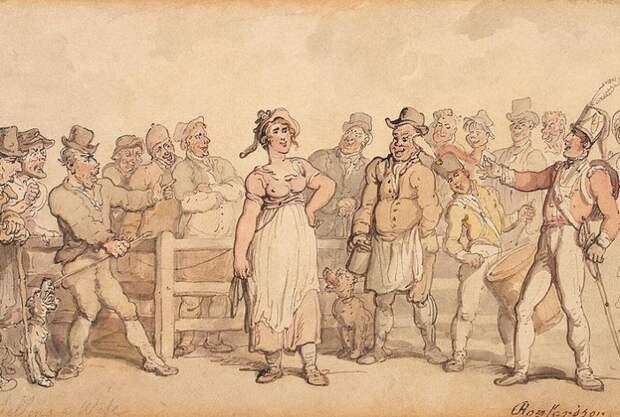 Как надоевших жен продавали: Практика,  распространенная в Англии всего 150 лет назад