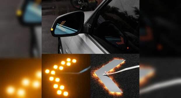 Как установить светодиодные стрелки поворотников в зеркала автомобиля