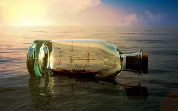 Как засовывают корабль в бутылку: простые способы изготовления