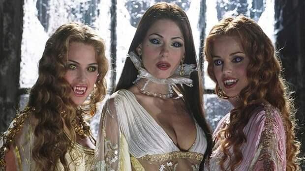 """Невесты Дракулы из фильма """"Ван Хельсинг"""". Кадры со съёмок"""