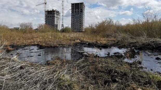 Тюменские власти рассказали, кому принадлежит земля смазутной лужей наДОКе