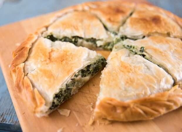 Пирог с зеленью Спанакопита