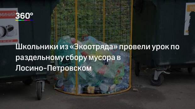 Школьники из «Экоотряда» провели урок по раздельному сбору мусора в Лосино-Петровском