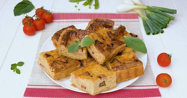 Как приготовить луковый пирог с беконом