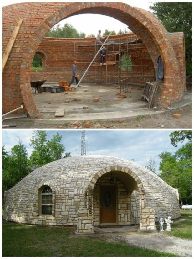 Используя подобную технологию можно построить купольный дом.   Фото: riadmar.livejournal.com.