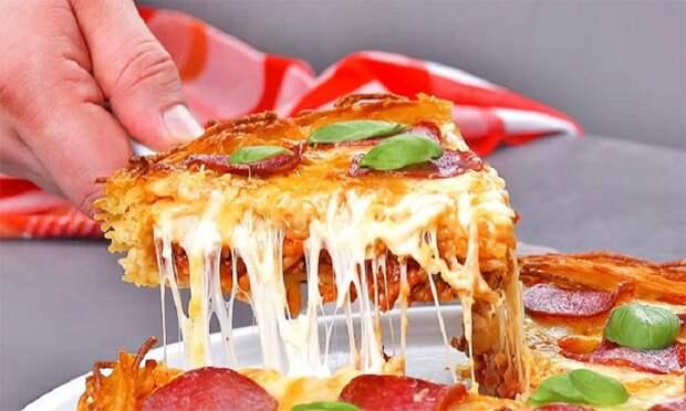 Пицца из макарон с соусом Болоньезе: если любите удивлять