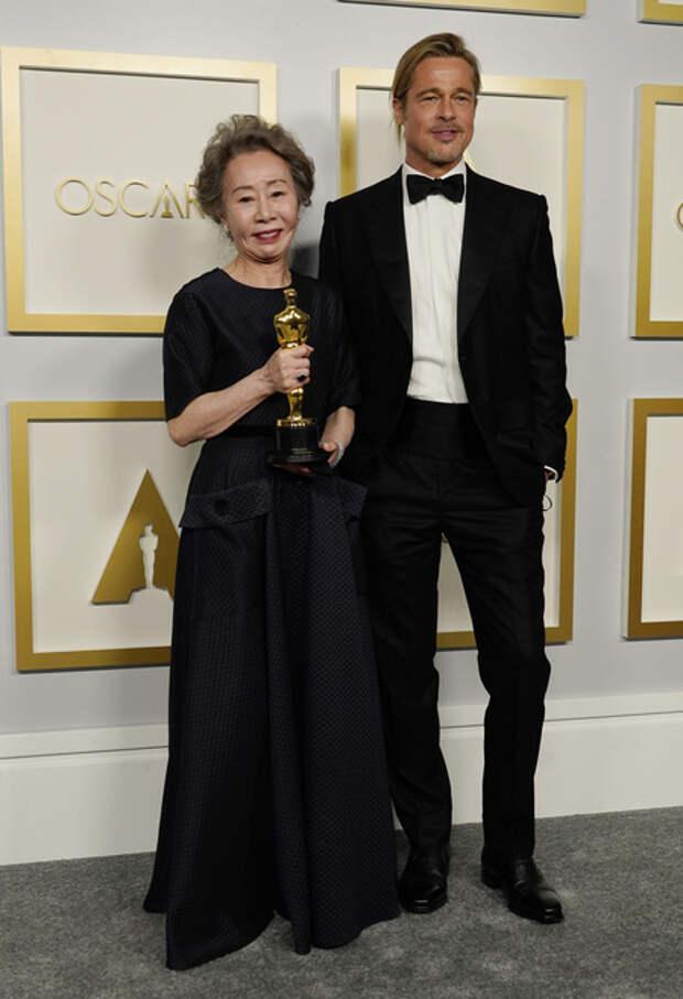 Оскар-2021: Брэд Питт на церемонии вручения премии
