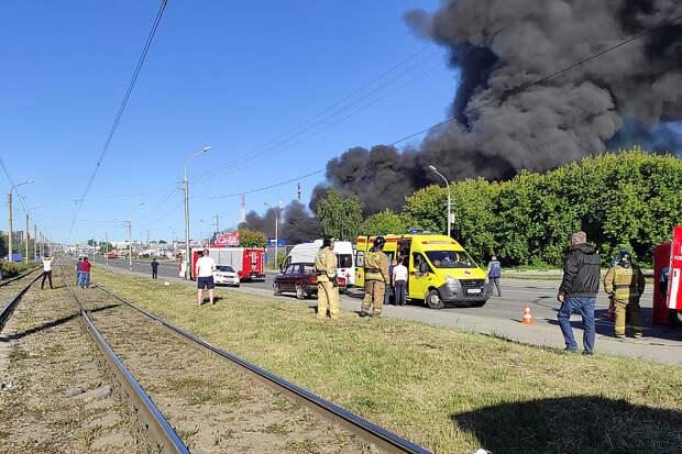 При пожаре на АЗС в Новосибирске пострадали более 20 человек