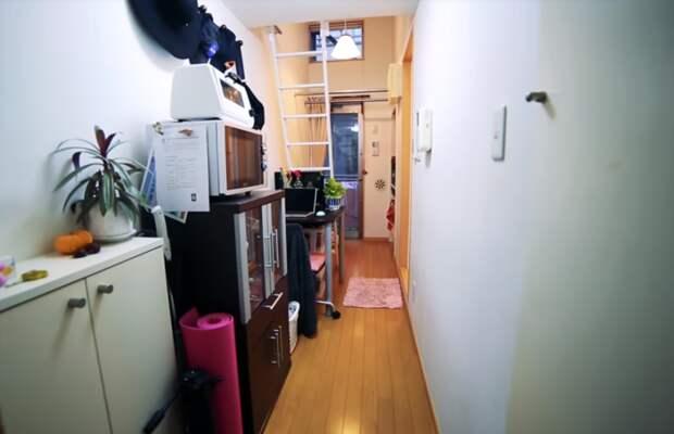 Коридор выполняет свою функцию, а также гостиной, столовой, кабинета и прихожей. | Фото: youtube.com.