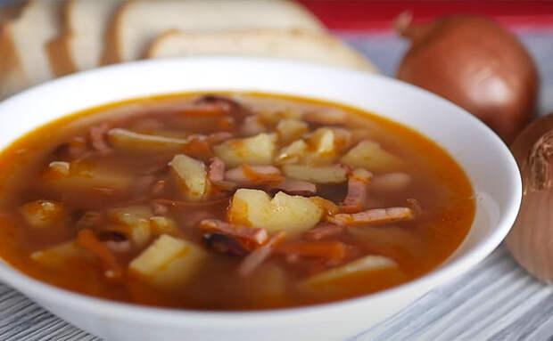 Суп Посольский: за 40 минут варим почти Солянку, но без использования мяса