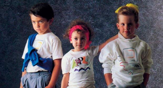 Оказывается, Apple производили одежду. 6 прикольных фото, которые вызывают ностальгию по 80-м