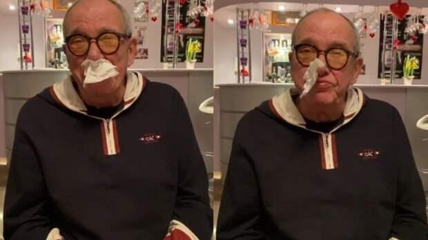 Эммануил Виторган высмеял коронавирус, засунув в нос салфетку