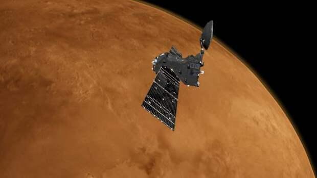 Уникальное фото показывает мощные штормы на ледяном северном полюсе Марса