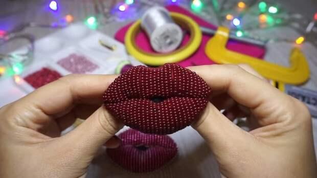 Губы как живые! Секретные приёмы, чтобы получилась 3D-брошь