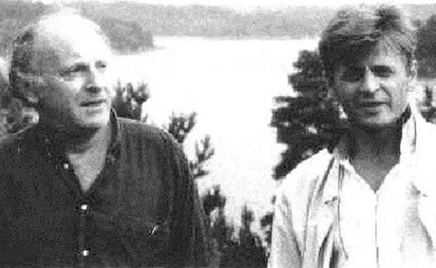 Иосиф Бродский и Михаил Барышников на Гудзоне, 1993 | Фото: discours.io