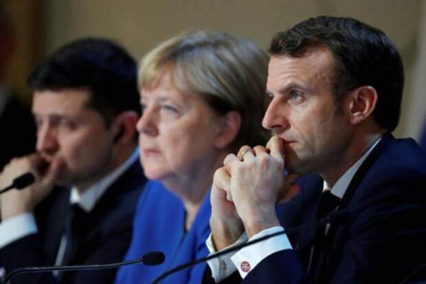 Меркель, Макрон и Зеленский обсудят отношения с Россией
