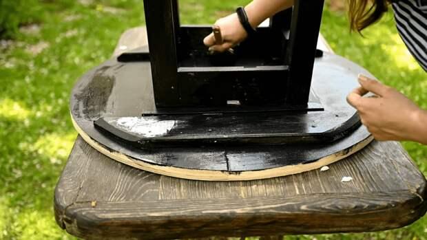 Крутая идея, как старая советская табуретка в руках мастерицы превращается в шикарный стол