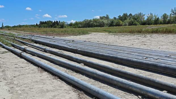 Военные разбирают водовод от Тайганского до Симферопольского водохранилища