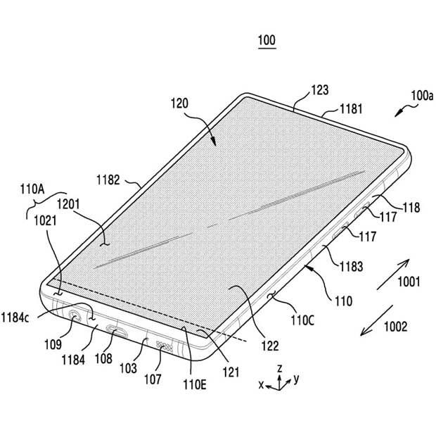 Samsung запатентовала уникальный смартфон с гибким выдвигающимся экраном