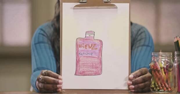 Heinz попросил людей нарисовать кетчуп. Они нарисовали Heinz