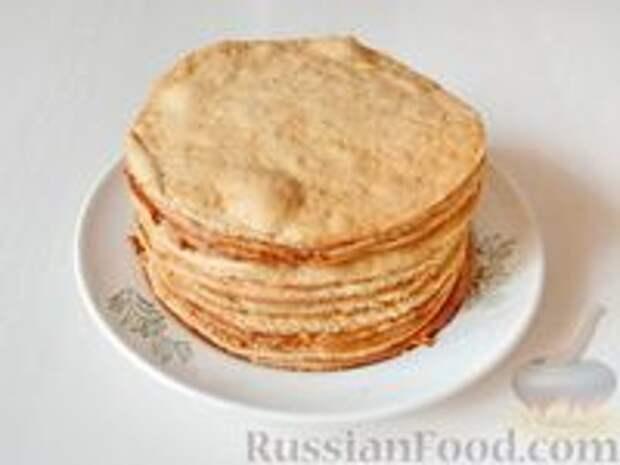Фото приготовления рецепта: Медовик апельсиновый - шаг №14