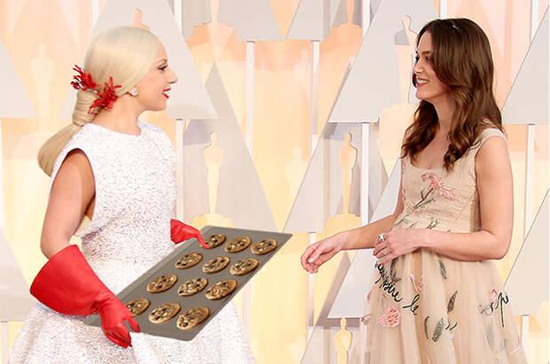 Леди Гага и Кира Найтли