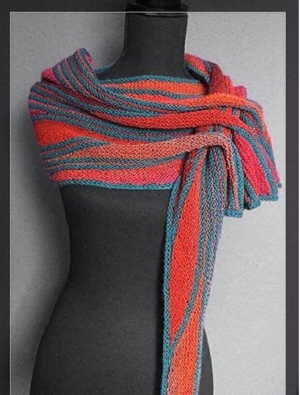 Норвежский треугольный шарф — бактус: схемы и подробности вязания...