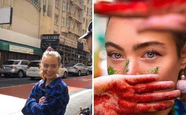 Фотограф предлагает незнакомцам фотосессию прямо на улице, и они в восторге от результата