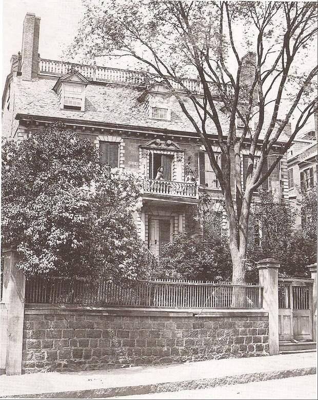 Дом семьи Хэнкок в Бостоне. <br>