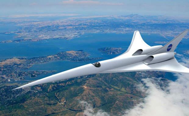 QueSST Самолет нового поколения будет создан с применением Quiet Supersonic Technology. Специалисты НАСА экспериментируют с формой воздушного судна, чтобы спроектировать «тихую» звуковую волну. Это и в самом деле возможно, вот только создать гражданский авиалайнер необычной формы будет довольно сложно.
