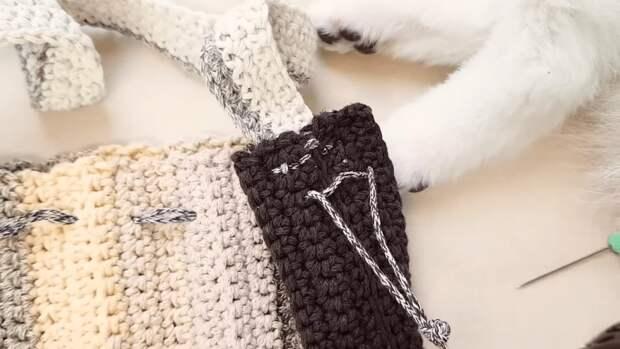 Эффектная сумка на весну: простое вязание — стильный результат