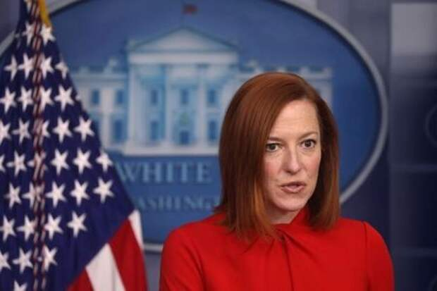 FILE PHOTO: U.S. White House Press Secretary Jen Psaki holds the daily briefing at the White House in Washington, D.C., U.S. February 17, 2021. REUTERS/Leah Millis