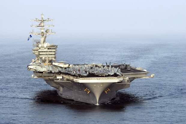 Иранская ракета взорвалась всего в 100 милях от авианосца США Nimitz