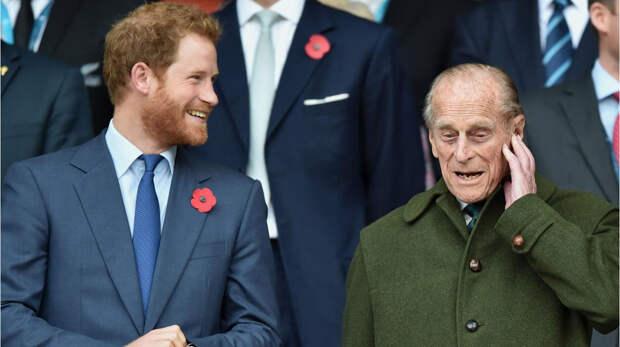 Принц Гарри с принцем Филлипом