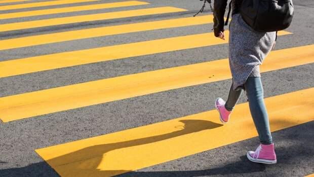 Более десяти новых пешеходных переходов появилось в Москве в апреле